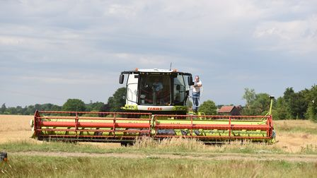Harvesting on an East Anglian farm Picture: GREGG BROWN