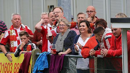 Felixstowe fans will be out in force at Bowers & Pitsea this weekend. Picture: STAN BASTON