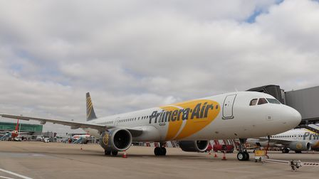 Primera Air A321NEO preparing for its first departure to Washington DC in August. Picture: London St