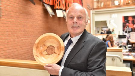 Anglia in Bloom: Brian Massingham, chairman of Wisbech who won the Mike Ames award. Picture: SONYA D