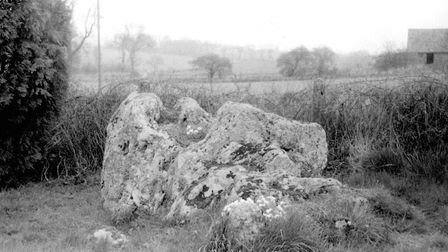 Cedd's Stone, Chediaton pictured in the 1970s. Picture: Mike Burgess/Hidden East Anglia