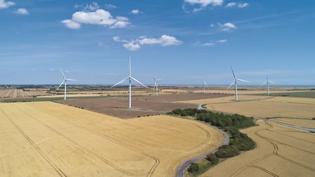 Strutt & Parker (Farms) Ltd is up for sale. Pictured is a set of turbines it owns Picture: KEVIN SNE