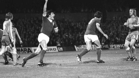 Town drew 2-2 with FC Twente at Portman Road in the UEFA Cup on this day in 1974