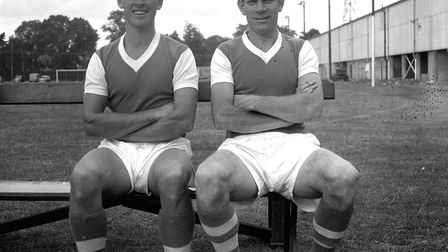 Ray Crawford and Ted Phillips scored twice for the Blues as they began their European Cup journey on