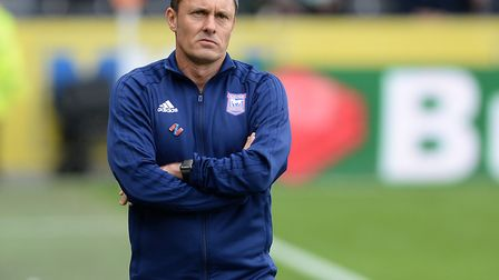 Paul Hurst is still waiting for his first win in charge of Ipswich Town. Photo: Pagepix