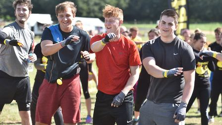 A charity muddy obstacle race to raise money for Fresh Start-New Beginnings near Woodbridge Picture: