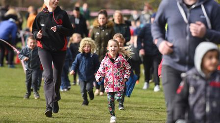 Wells Hall Primary school launched its Daily Mile as part of Sport Relief in March. Picture: GREGG B