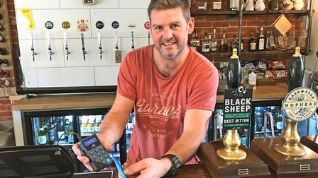 Landlord of the Boot pub Mike Keen, who says his venue in Freston near Ipswich, is the first in Brit
