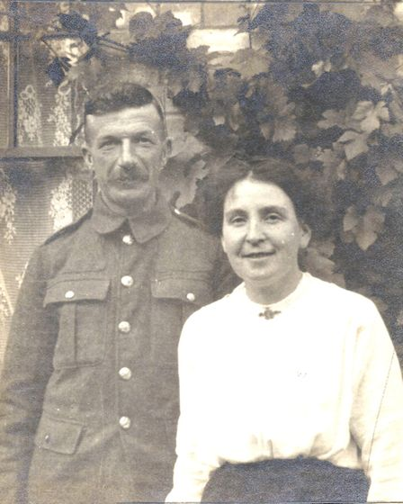 William Edwards and his wife Edith (but always known as �Flo�), pictured in August 1917. Picture: ED