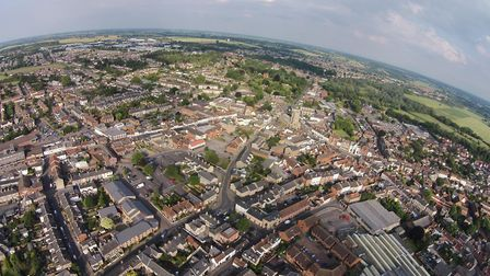 Stunning view of Sudbury from above taken by drone Picture: MARTYN SMITH