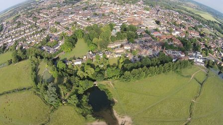 View of Sudbury from above taken by drone Picture: MARTYN SMITH