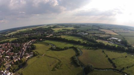 A view over Sudbury taken by drone Picture: MARTYN SMITH