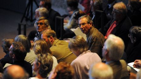 Members of the audience at the Aldeburgh Food and Drink Conference at Snape Maltings Picture: SIMON
