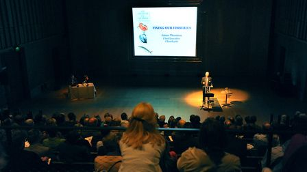 A previous Aldeburgh Food and Drink Conference at Snape Maltings Picture: SIMON PARKER