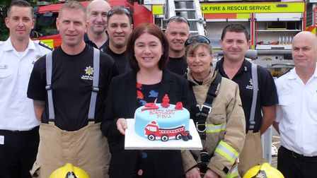 Alex Mayer MEP joined firefighters in Bury St Edmunds to celebrate 100 years of the Fire Brigades Un