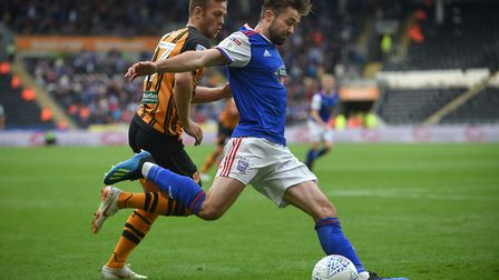 Gwion Edwards delivers a first half cross at Hull City Picture Pagepix