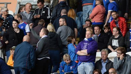 Town fans frustrated at Hull City make for the exits after the second goal Picture Pagepix