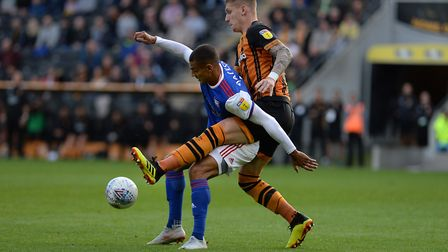 Kayden Jackson gets no room to play at Hull Picture Pagepix