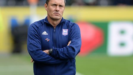 Ipswich Town boss Paul Hurst is still waiting for his first win in charge. Photo: Pagepix