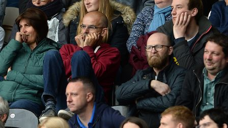 Town fans looking frustrated at Hull. Photo: Pagepix