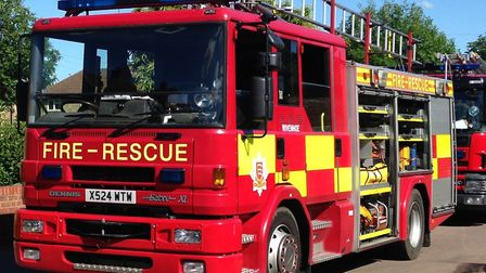 Firefighters are making 'good progress' tackling the blaze Picture: WILL LODGE