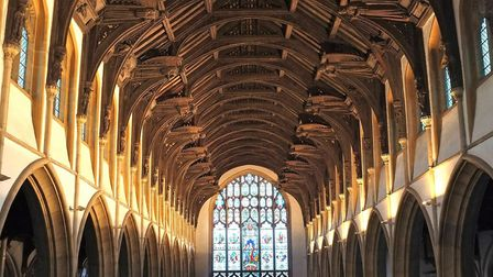 St Mary's Church: Surely one of the finest Angel roofs in the country