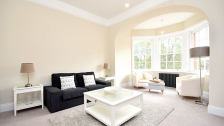 The lounge of the three-bedroom town house at Belgrove Place, Ipswich, available from Fenn Wright. P