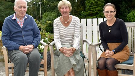 Former world tennis star Christine Truman Janes with her husband Gerry Janes and manager at Woodbrid