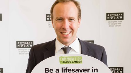 Matt Hancock, MP for West Suffolk, is backing the Communities vs Blood Cancer campaign Picture: ANTH