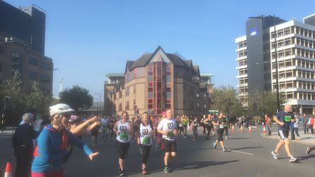 Early on in last year's Great East Run, in Princes Street, Ipswich. Picture: DAVID VINCENT