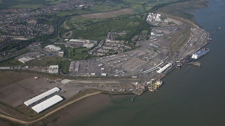 Harwich International Port - site of the Galloper Offshore Wind Farm Operations and Maintenance base