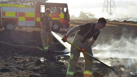 Field fires were a regular feature of this summer's hot weather Picture: SFRS