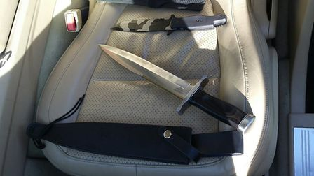Weapons found in the car Picture: ESSEX POLICE FIREARMS UNIT
