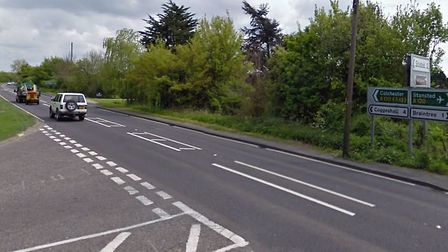 The crash happened near to the junction between Coggeshall Road and King's Lane Picture: GOOGLE