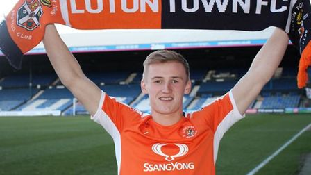 Flynn Downes joined League Two side Luton Town last season, where he won promotion. Photo: Luton Tow