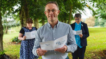 Steve Foyster, who helped compose a message of hope for Suicide Prevention Day, with peer support wo
