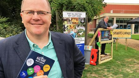 George Freeman MP at the Big Tent Ideas Festival. Picture: PAUL GEATER