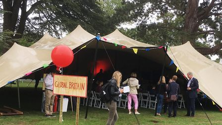Nearly 2,000 people attended the Big Tent Ideas Festival at Babraham Hall near Cambridge. Picture: P