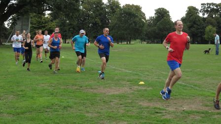Runners in action at Chantry Park on Saturday. Picture: IPSWICH PARKRUN FACEBOOK PAGE