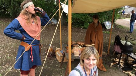 The Viking settlements had sprung up along the waterway in Woodbridge for the wekend. Picture: PAUL