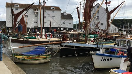 There were sail-pasts each morning for keen yacht spotters to see the best boats in Suffolk. Picture