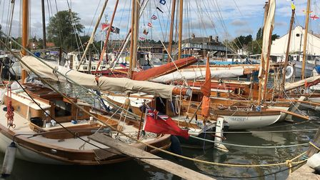 Boats gathered on the docks in Woodbridge to celebrate the Maritime weekend. Picture: PAUL GEATER