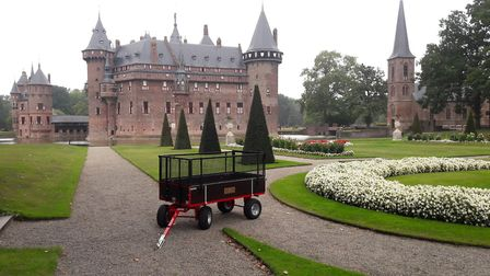 De Haar Castle, and an SCH trailer, which is used to upkeep the grounds. Picture: SCH
