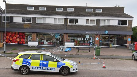 The aftermath of the ram raid in Kessingland Picture: Nick Butcher