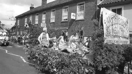 The Church Women's Fellowship float at Wickham Market Carnival in 1976 Picture: ARCHANT