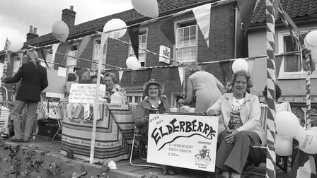 Wickham Market over 60s club members taking part in the village's 1976 carnival parade Picture: ARCH