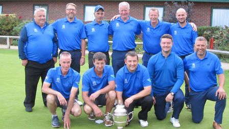 The Haverhill team with the Tolly Cobbold Cup. Picture: BILL DARLING
