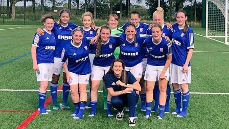 Ipswich Town FC Women Reserves beat Norwich City Reserves 6-1 in the cup Picture: LEANNE SMITH