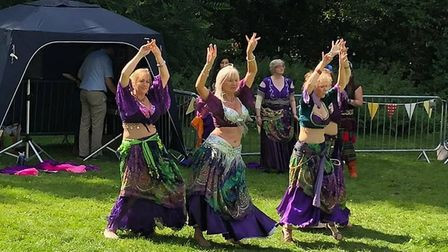 Belly dancers from Bellydanza performed at the fete Picture: BALLINGDON FETE COMMITTEE