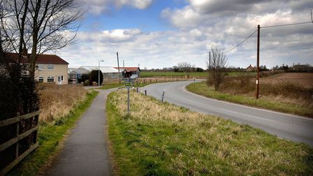 Villagers are fighting to stop land between Trimley St Martin, Kirton and the A14 - just behind thes